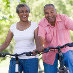 african_american_middle_age_couple_bike_ride