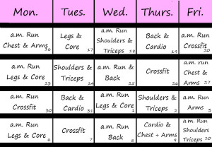 exercise-calendars
